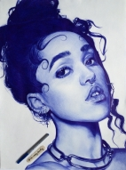FKA Twigs, pen