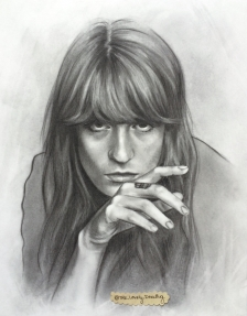 Florence Welch, graphite