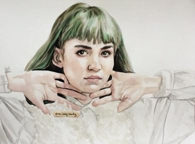 Grimes, watercolor