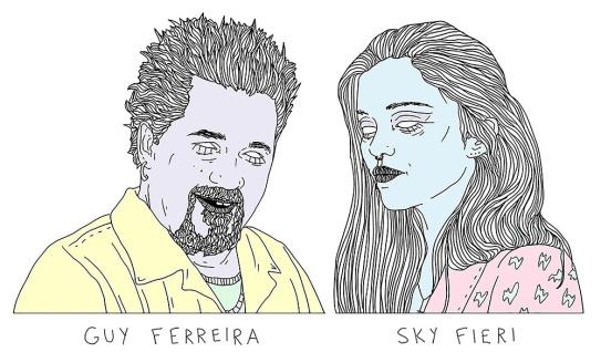 guy sky