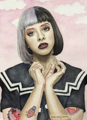 Melanie Martinez, watercolor